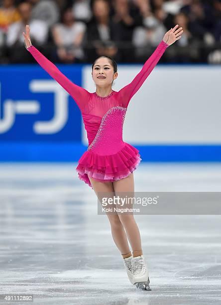 Satoko Miyahara of Japan competes in the Ladies Singles Free Skating during the Japan Open 2015 Figure Skating at Saitama Super Arena on October 3...