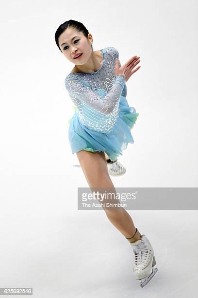 Satoko Miyahara of Japan competes in the Ladies Singles short program during day one of the ISU Grand Prix of Figure Skating NHK Trophy at Makomanai...