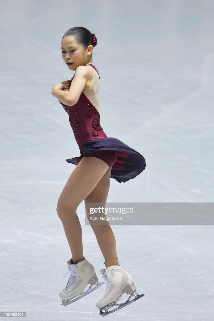 Satoko Miyahara of Japan competes in the women's free program during day two of ISU Grand Prix of Figure Skating 2013/2014 NHK Trophy at Yoyogi National Gymnasium on November 9, 2013 in Tokyo, Japan.