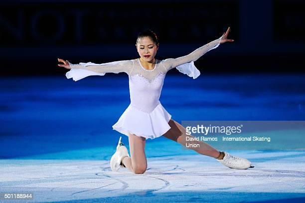 Satoko Miyahara of Japan performs at an exhibiton gala on day 4 of the ISU Junior Senior Grand Prix of Figure Skating Final 2015/2016 at the...