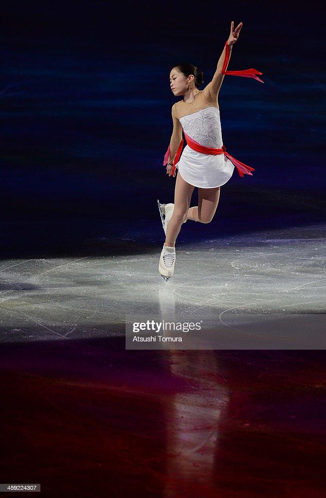 Satoko Miyahara of Japan performs her routine in the Gala exhibition during All Japan Figure Skating Championships at Saitama Super Arena on December 24, 2013 in Saitama, Japan.