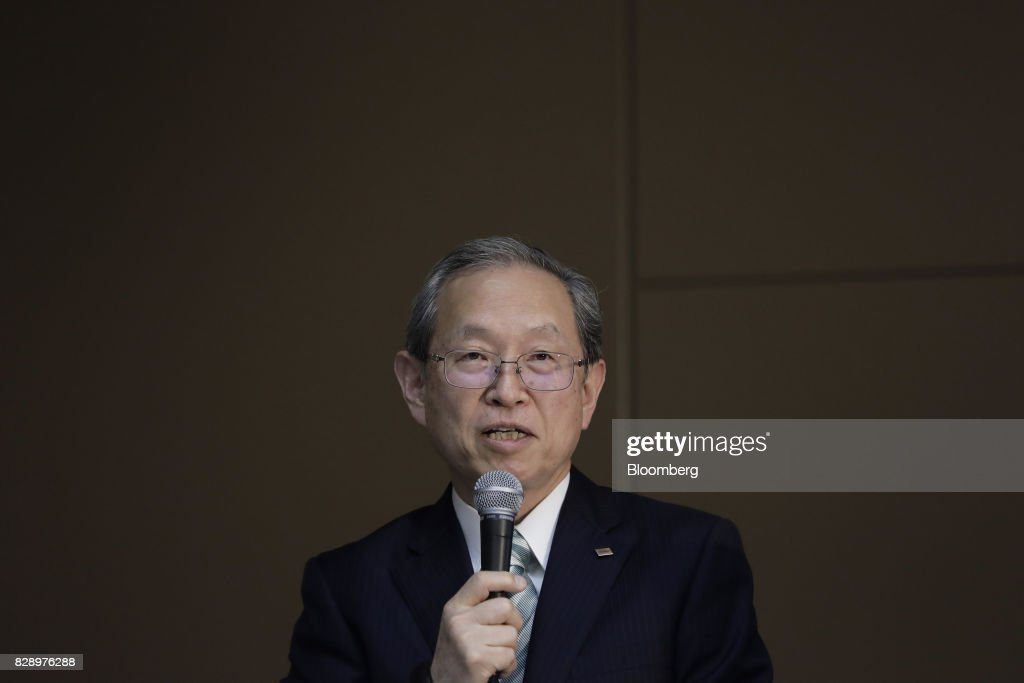 Toshiba Corp. President Satoshi Tsunakawa Attends News Conference As Company Reports $8.8 Billion Loss