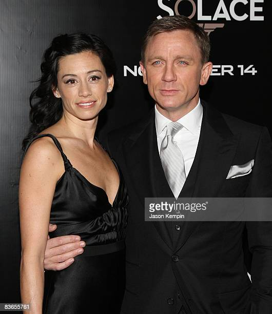 Satsuki Mitchell and actor Daniel Craig attend the 2008 Tribeca Film Institute Fall Benefit screening of 'Quantum of Solace' at the AMC Lincoln...