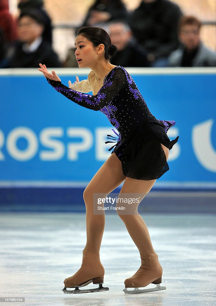 Satsuki Muramoto of Japan dances during the senior ladies short program of the NRW trophy 2012 at Eissportzentrum on December 8, 2012 in Dortmund, Germany.