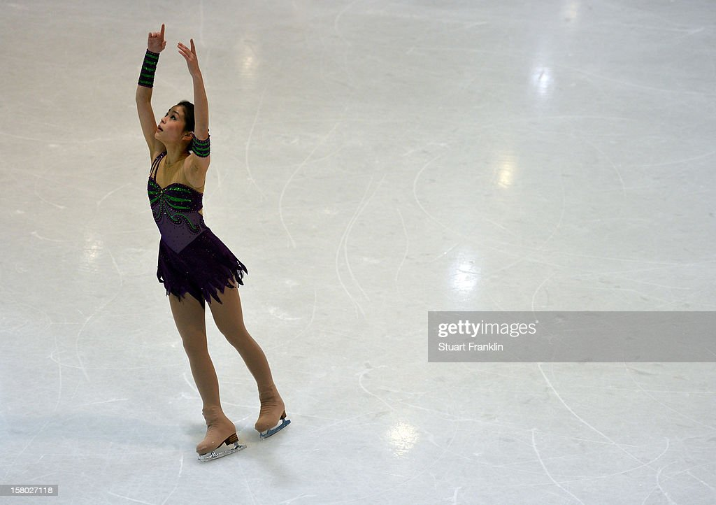 Satsuki Muramoto of Japan in action during the senior ladies freestyle section of the NRW trophy at Eissportzentrum on December 9, 2012 in Dortmund, Germany.