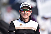 Sattaya Supuoramai of Thailand smiles during the final round of the 2015 Thailand Open at Amata Spring Country Club on December 13 2015 in Chon Buri...