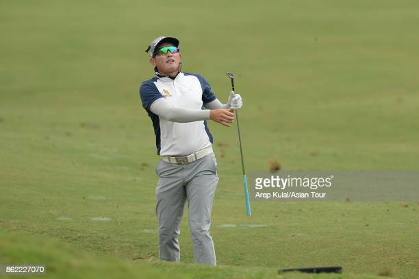 Sattaya Supupramai of Thailand pictured during practice ahead of the Macao Open at Macau Golf and Country Club on October 17 2017 in Macau Macau