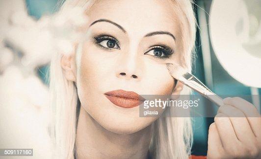 Saturday ight makeup.