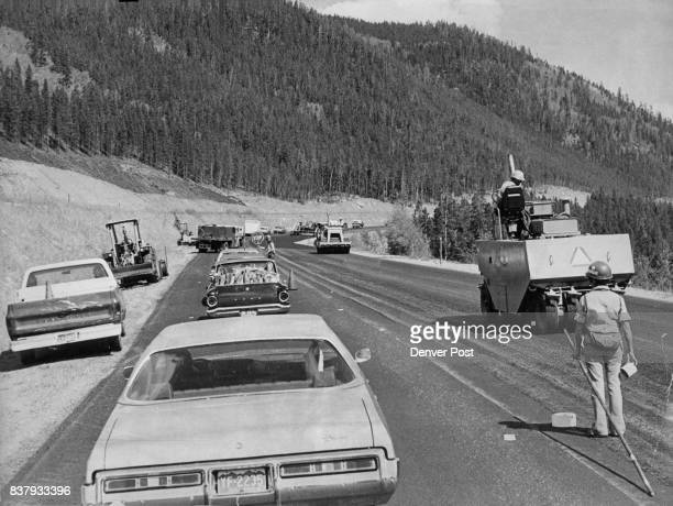 Saturday Mountain Traffic Halted For Rush Paving Job Near Tunnel Traffic is stopped at the west end of Eisenhower Memorial Tunnel as the Colorado...