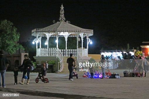 Saturday Night  in the town plaza-  San Jose del Cabo