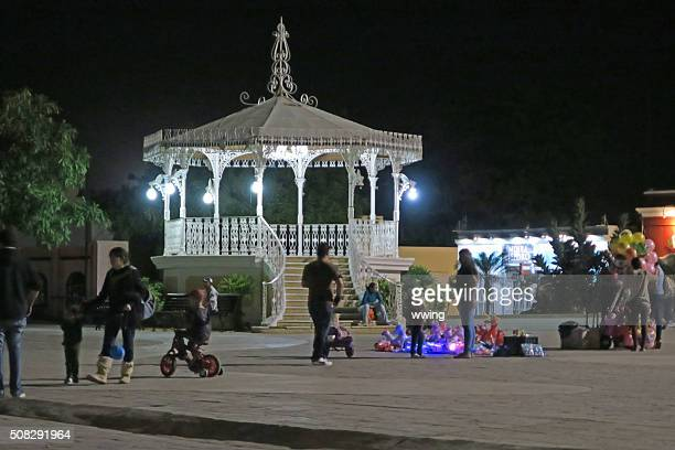 Saturday Night  in the town plaza-  San Jose del Cabo