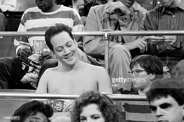Saturday Night Live Episode 20 Pictured Rob Schneider as The Sensitive Naked Man during 'The Sensitive Naked Man' skit on May 16 1992