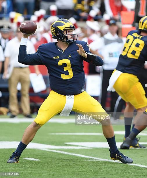 Michigan quarterback Wilton Speight in action during the second quarter of 147 win over Wisconsin Saturday at Michigan Stadium in Ann Arbor