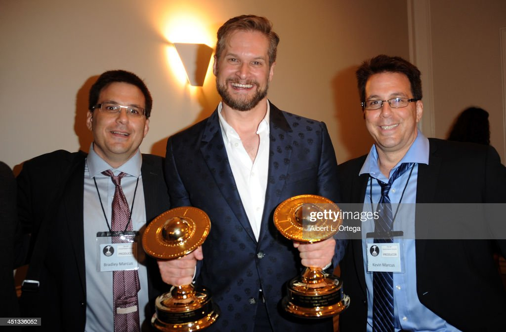 Saturn Award Producers Braley and Kevin Marcus with honoree <a gi-track='captionPersonalityLinkClicked' href=/galleries/search?phrase=Bryan+Fuller&family=editorial&specificpeople=2960095 ng-click='$event.stopPropagation()'>Bryan Fuller</a> attend the After Party for the 40th Annual Saturn Awards held at on June 26, 2014 in Burbank, California.