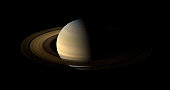 August 12, 2009 - Of the countless equinoxes Saturn has seen since the birth of the solar system, this one, captured here in a mosaic of light and dark, is the first witnessed by Cassini.  Seen from o