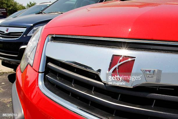 Saturn vehicles at a Saturn dealership are shown June 5 2009 in Southfield Michigan General Motors announced today that they have reached a tentative...