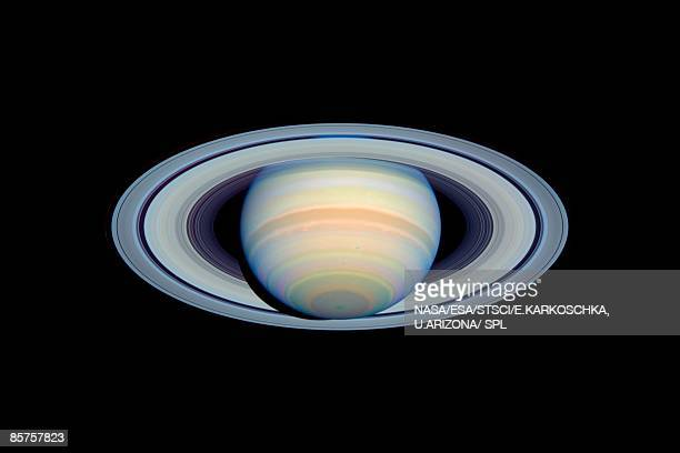 Saturn with rings at widest angle to Earth