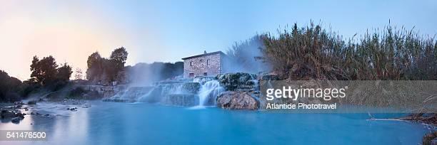 Saturnia, thermal spring waterfall