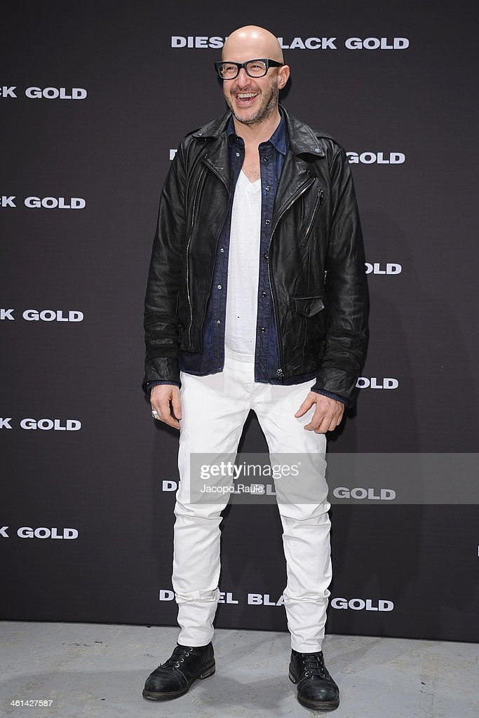 Saturnino Celani attends Diesel Black Gold fashion show during Pitti Immagine Uomo 85 on January 8, 2014 in Florence, Italy.