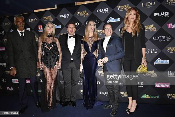 Satya Oblette Jeremy Urbain Tonya Kinzinger Jean Marc Genereux and Adriana Karembeu attend the 'Top Model Belgium 2017' Ceremony at Le Lido on...