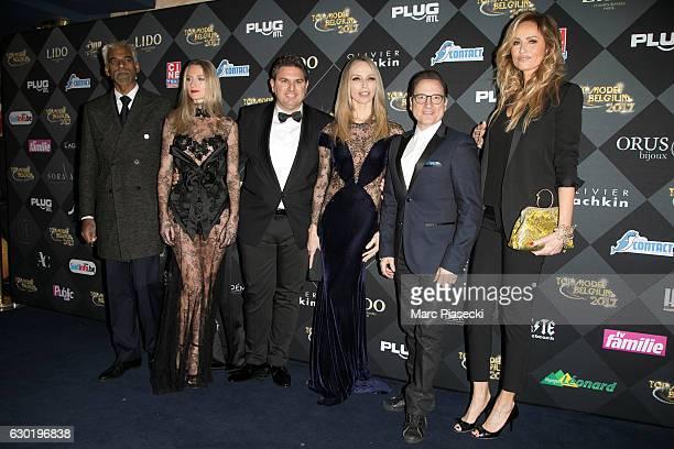 Satya Oblette Laura Messia Jeremy Urbain Tonya Kinzinger JeanMarc Genereux and Adriana Karembeu attend 'Top Model Belgium 2017' at 'Le Lido' theater...