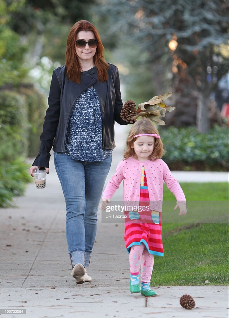 Satyana Denisof and Alyson Hannigan are seen on November 19, 2012 in Los Angeles, California.