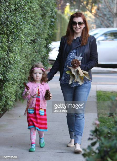 Satyana Denisof and Alyson Hannigan are seen on November 19 2012 in Los Angeles California