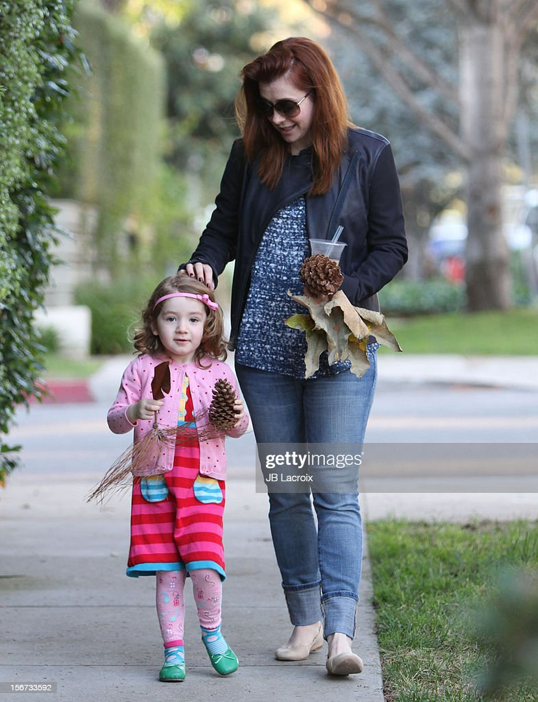 Satyana Denisof and Alyson Hannigan are seen on November 19, 2012 in Los Angeles, California.