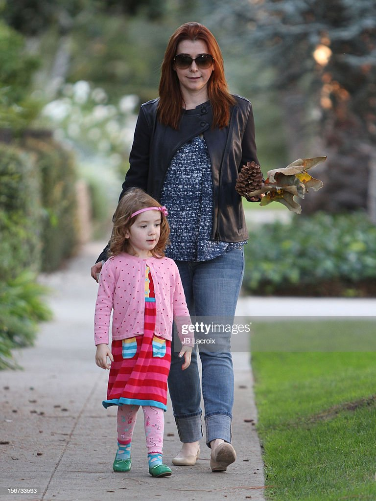 Satyana Denisof and <a gi-track='captionPersonalityLinkClicked' href=/galleries/search?phrase=Alyson+Hannigan&family=editorial&specificpeople=206497 ng-click='$event.stopPropagation()'>Alyson Hannigan</a> are seen on November 19, 2012 in Los Angeles, California.