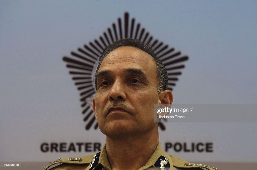 Satyapal Singh, Commissioner of Police, Mumbai at the launch of Social Media Lab at CST on March 16, 2013 in Mumbai, India. The lab is aimed at gathering all the available information on the web on the issues pertaining to governance and public order, based on which, police will chalk out a strategy to maintain law and order.