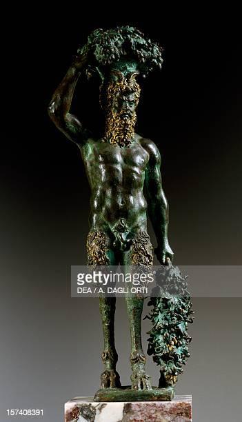 Satyr 15741588 by Pietro da Barga bronze statue Italy 16th century Florence Museo Nazionale Del Bargello