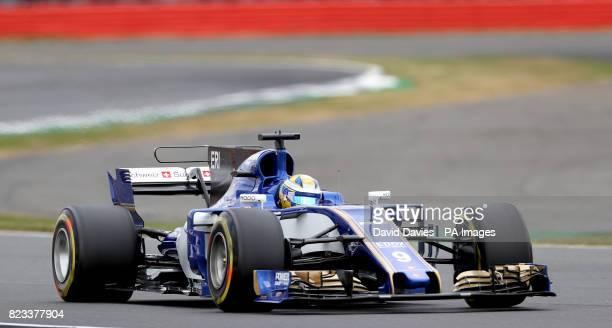 Sauber Marcus Ericsson during second practice of the 2017 British Grand Prix at Silverstone Circuit Towcester