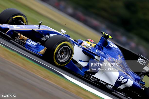 Sauber Pascal Wehrlein during second practice of the 2017 British Grand Prix at Silverstone Circuit Towcester