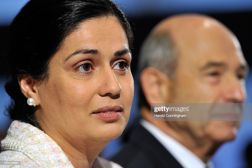 Sauber Team Principal Monisha Kaltenborn looks on as she unveils the Sauber C32-Ferrari new car for the 2013 Formula 1 season during the launch at the Sauber Motorsport AG on February 2, 2013 in Hinwil, Switzerland.