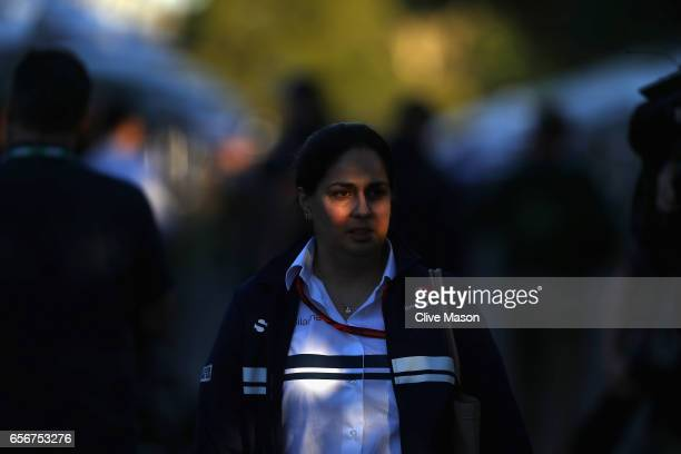 Sauber Team Principal Monisha Kaltenborn walks in the Paddock during previews to the Australian Formula One Grand Prix at Albert Park on March 23...