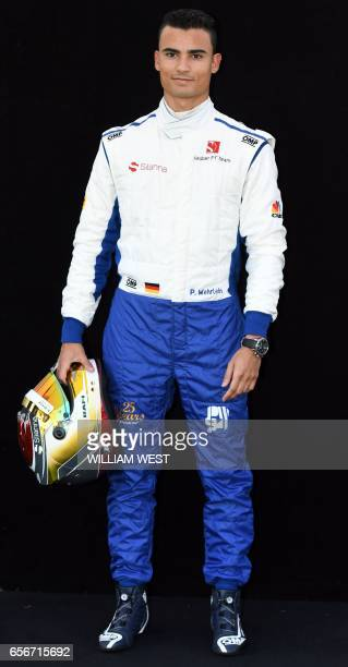 Sauber's German driver Pascal Wehrlein poses for a photo in Melbourne on March 23 ahead of the Formula One Australian Grand Prix / AFP PHOTO /...