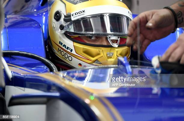 Sauber's German driver Pascal Wehrlein prepares for the second practice session of the Formula One Japanese Grand Prix at Suzuka on October 6 2017 /...