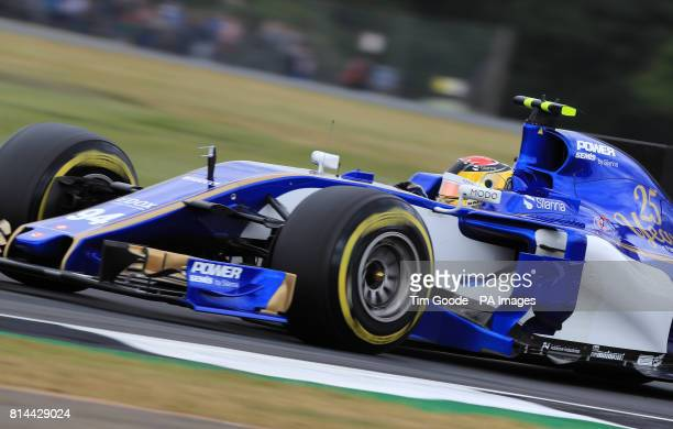 Sauber's Pascal Wehrlein during second practice of the 2017 British Grand Prix at Silverstone Circuit Towcester