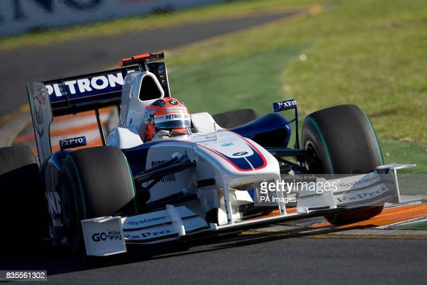 BMW Sauber's Robert Kubica during the Australian Grand Prix at Albert Park Melbourne Australia