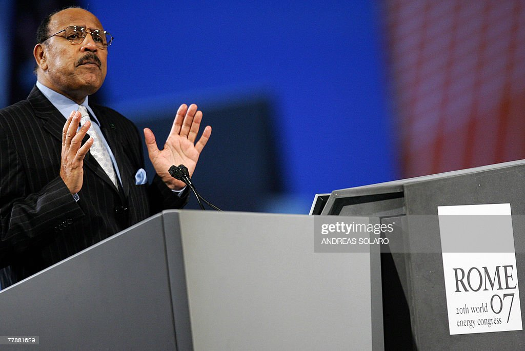 Saudi Abdallah S Jum'ah President of Saudi Aramco the world largest oil company speaks 13 November 2007 during the 20th World Energy Congress in Rome...