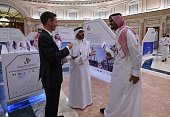 Saudi and French businessmen attend the second FrancoSaudi business forum on October 12 at Ritz Carlton hotel in the Saudi capital Riyadh French...