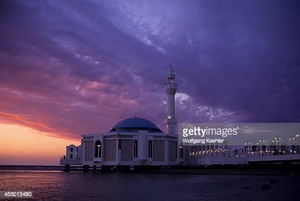 Saudi Arabia Jeddah Corniche Fatma Al Zahra Mosque At Sunset