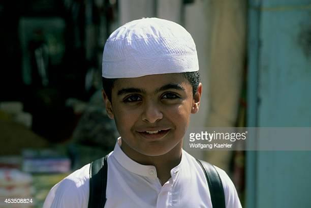 Saudi Arabia Jeddah Old Town Portrait Of Local Boy