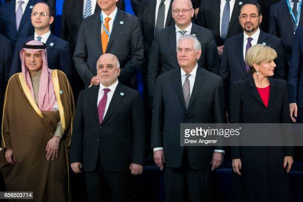 Saudi Arabia Minister of Foreign Affairs Adel bin Ahmed AlJubeir Prime Minister of Iraq Haider alAbadi US Secretary of State Rex Tillerson and...