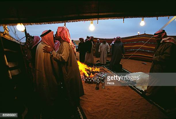 Saudi Arabia Umm Ruqaybah 150 km south of Hafar al Batin approximately 400 km north of Riyadh near the border of Iraq A group of Bedouins in their...