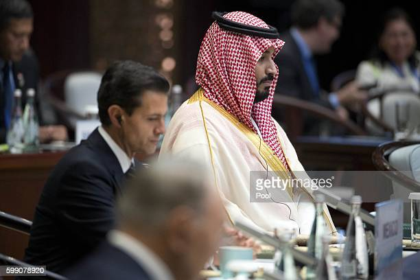 Saudi Arabian Deputy Crown Prince Mohammed bin Salman attends the opening ceremony of the G20 Summit on September 4 2016 in Hangzhou China World...