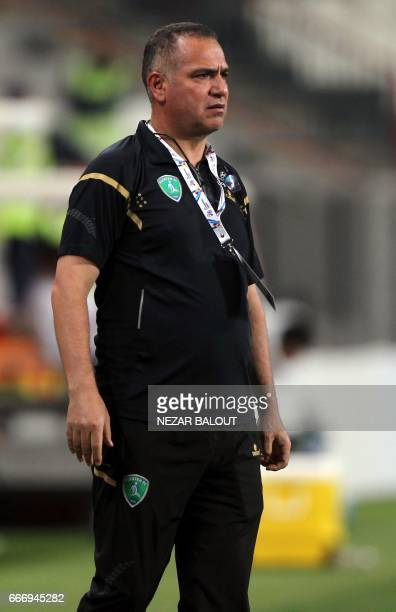 Saudi Arabia's AlFateh club Head Coach Fethi Jabel of Tunisia looks on during the AFC Champions League Group B match at the Mohammed Bin Zayed...