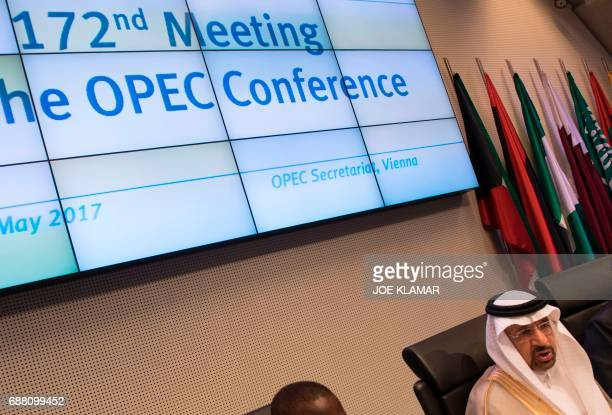 Saudi Arabias energy minister and president of the Organization of the Petroleum Exporting Countries Khalid alFalih attends the 172nd meeting of the...