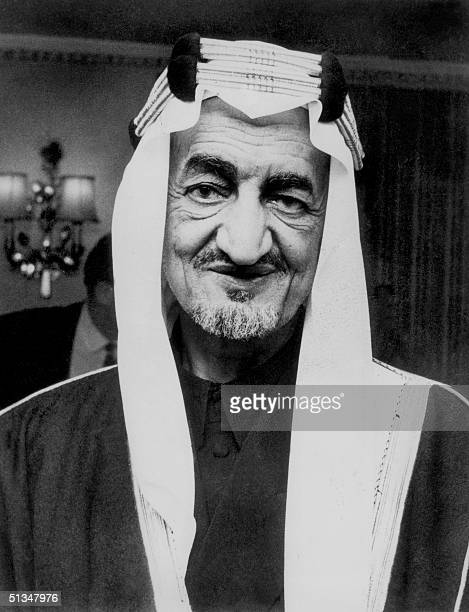 Saudi Arabia's King Faisal bin Abdul Aziz al Saud the third King of Saudi Arabia smiles in May 1967 in Riyadh Following the formation of the Kingdom...
