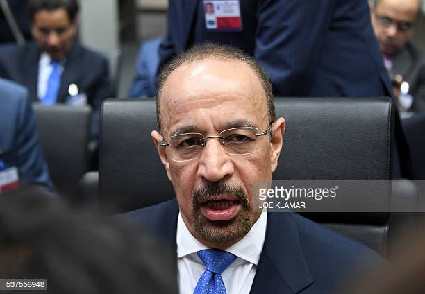 Saudi Arabia's minister of energy Khalid A AlFalih attends the 169th meeting of the Organization of the Petroleum Exporting Countries OPEC at OPEC...